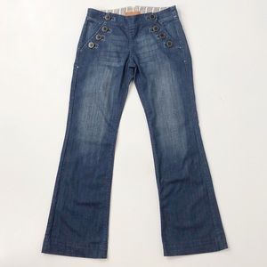 Anthro The Stephenson Denim Finery Flare Jeans